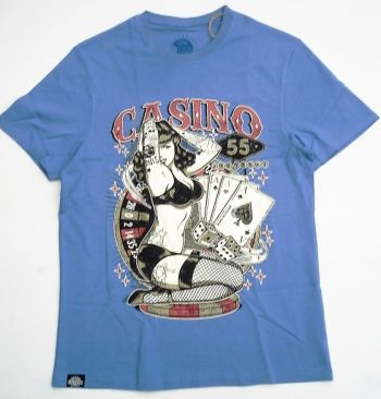 King Kerosin Regular T-Shirt Blau - Casino