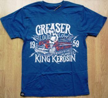 King Kerosin Regular T-Shirt Blau / Greaser Car Club