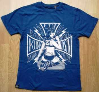 King Kerosin Regular T-Shirt Blau / Born Ride