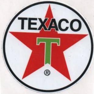 Vintage Race Sticker - Texaco