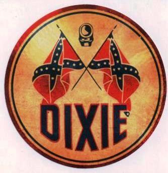Vintage Race Sticker - Dixie Rebelflags