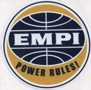 Race Sticker - EMPI Power Rules!