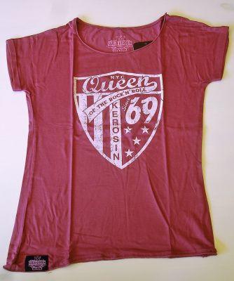 Loose-Shirt von Queen Kerosin - Since 1969 rasperry