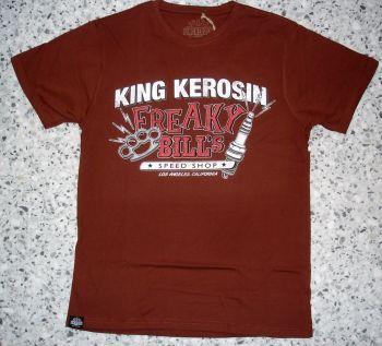King Kerosin Regular T-Shirt Cinnamon Brown / Freaky Bill`s