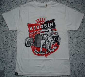 King Kerosin Regular T-Shirt offwhite / Speed & Style