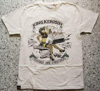 King Kerosin Regular T-Shirt offwhite / No Pain, No Gain