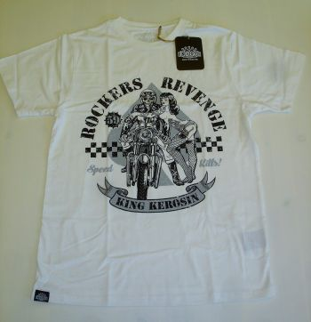 King Kerosin Regular T-Shirt offwhite / Rockers Revenge