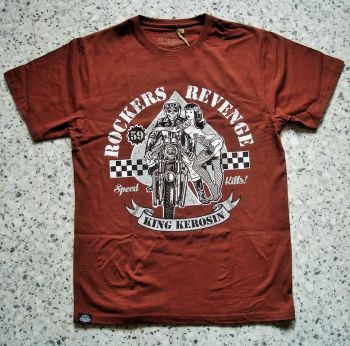 King Kerosin Regular T-Shirt Cinnamon Brown / Rockers Revenge