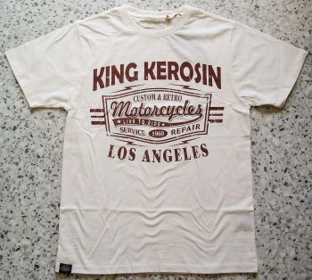 King Kerosin Regular T-Shirt offwhite / Retro Motorcycles