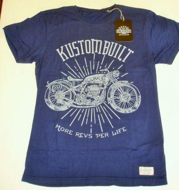 King Kerosin Vintage-Shirt midnight blue - Mrpl Motorcycles