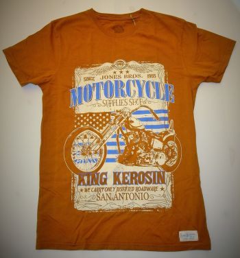 King Kerosin Vintage-Shirt rust brown / San Antonio
