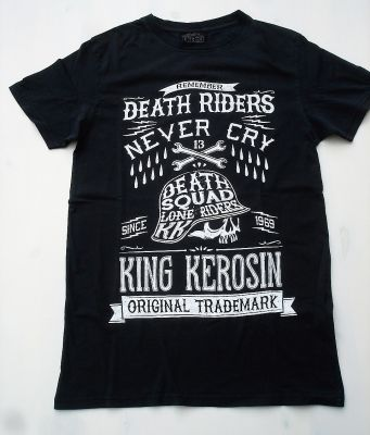 King Kerosin Vintage-Shirt / Death Riders Never Cry