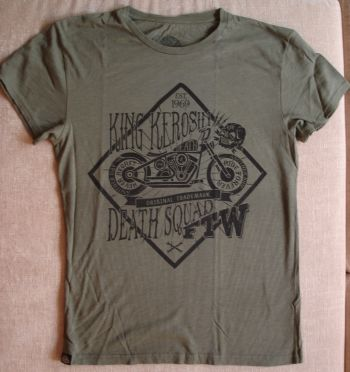 Watercolor-Shirt von King Kerosin / Death Squad - olive