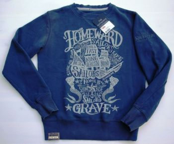 Old-School-Sweater von King Kerosin / Sailor`s Grave -blau