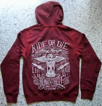 Used-Airbrush-Zipper rot King Kerosin - Ride or Die / Time is Running