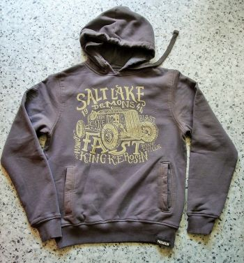 Used-Airbrush-Hoodie grau - Salt Lake Demons