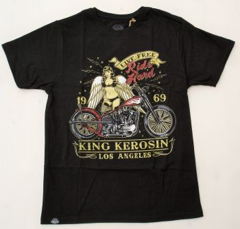 King Kerosin Regular T-Shirt / Ride Hard - Life Free 2015