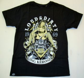 King Kerosin Regular T-Shirt / V8 Loud & Dirty - schwarz