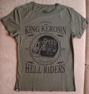 Watercolor-Shirt von King Kerosin / Speed Demons Crew- Olive