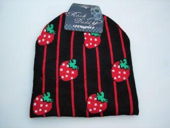 Beanie Strickmütze von Rock Daddy - Erdbeeren
