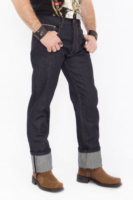 Jeans von King Kerosin - Red Selvedge 14 oz./ dunkelblau