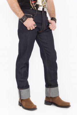 Jeans von King Kerosin - Red Selvedge 14 oz./ dunkelblau