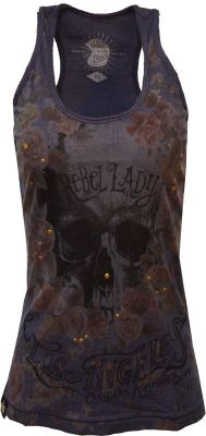 Longtop von Queen Kerosin - Rebel Lady / Navy