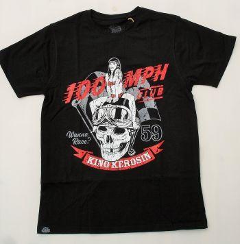 King Kerosin Regular T-Shirt / Wanna Race - 100 MPH
