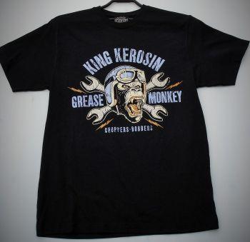 King Kerosin Regular T-Shirt / Grease Monkey - schwarz