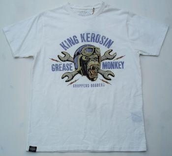 King Kerosin Regular T-Shirt offwhite / Grease Monkey