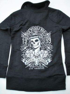 Zip-Sweater von Queen Kerosin - Rockabilly Rules