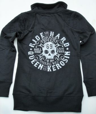 Zip-Sweater von Queen Kerosin - Born for Speed