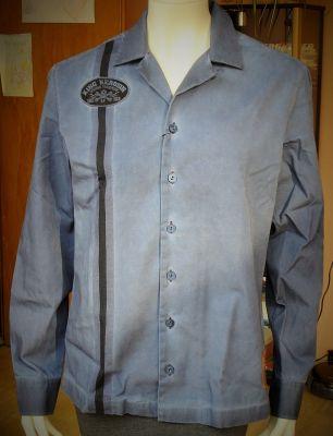 Dragstrip-Shirt Blanko Limited Edition von King Kerosin - schwarz