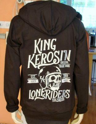 Zip-Hoodie Gestickte von King Kerosin - Lone Riders