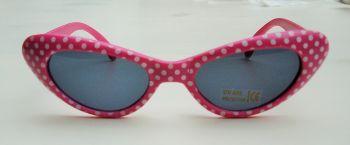 Cateyes Sonnenbrille - Pink mit weissen Punkten