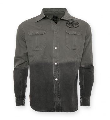 Vintage-Canvas-Shirt Grau - blanko
