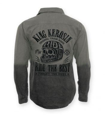 Vintage-Canvas-Shirt Grau - Ride the Best