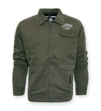 Vintage-Worker Jacket oliv grün - blanko