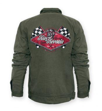 Vintage-Worker-Jacket Oliv green - Racing Team