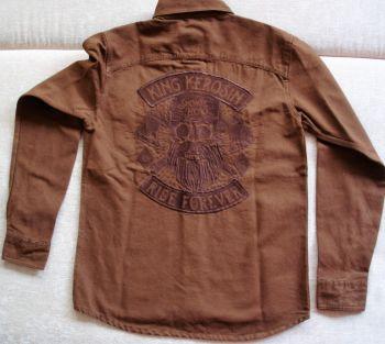 Vintage-Canvas-Shirt braun - Lumberjack / Ride Forever