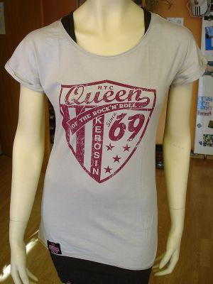 Loose-Shirt von Queen Kerosin - Since 1969 grau