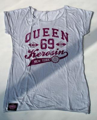 Loose-Shirt von Queen Kerosin - Queen of the Hell grau