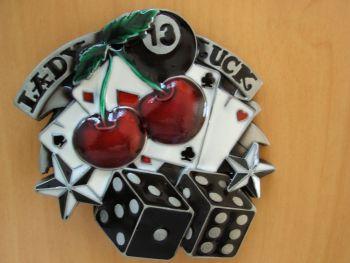 Buckle B-Buckle B-Lady Luck / Cards, Dice, Cherry