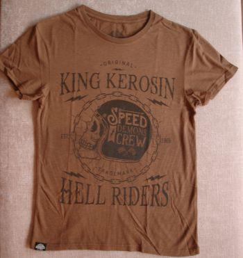 Watercolor-Shirt von King Kerosin / Speed Demons Crew - braun