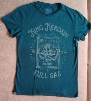Watercolor-Shirt von King Kerosin / Full Gas - blue