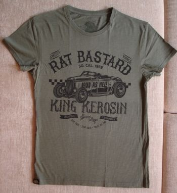 Watercolor-Shirt von King Kerosin / Rat Bastard - olive
