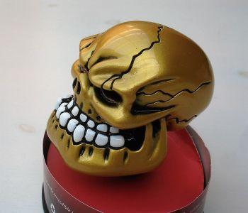 Schaltknauf - Punchy Skull / Gold