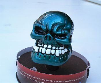 Schaltknauf - Punchy Skull / petrol