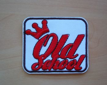 Patch - Old School / weiss-rot