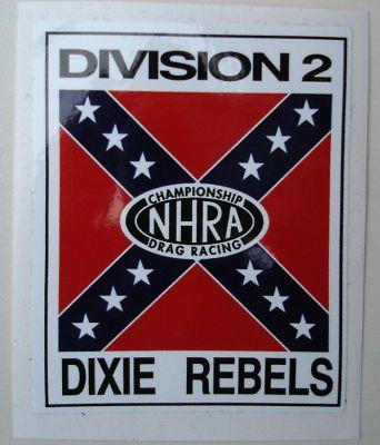 Race Sticker /  NHRA Dixie Rebels
